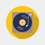 Old dj vynil icon Royalty Free Stock Photos