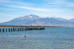 Old Dock in Almirante Montt Gulf in Patagonia - Puerto Natales, Magallanes Region, Chile Stock Images