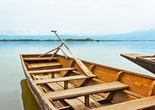 Old dock by the lake of the National Park Royalty Free Stock Photo