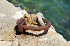 Old dock. And marine knot Stock Image