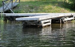 Old dock Royalty Free Stock Photos