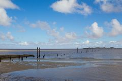 Old dock in Colonia, Uruguay. royalty free stock photography