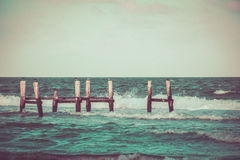 Old dock and sea photograph Royalty Free Stock Photography