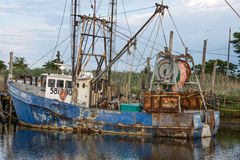 Old Docked Fishing Boat Stock Images