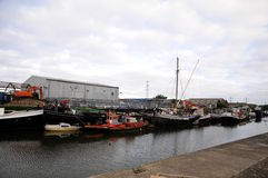 Old docks in London Stock Photos