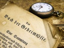 Old document and watch Stock Photo