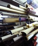 Old documents. Large number of rolled maps on a stand Royalty Free Stock Photography