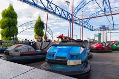 Old dodgem cars Stock Photo