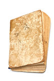 An old dog-eared book. Old tattered book on white background Royalty Free Stock Images
