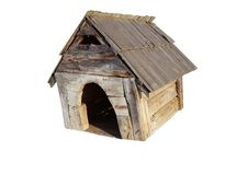 Old dog house Stock Photography