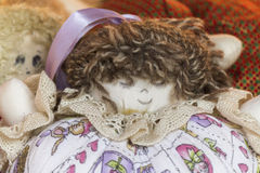 Old doll fabric Royalty Free Stock Images