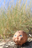 Old doll's head Stock Photography