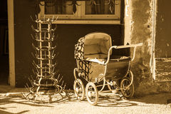 Old Dolls Pram Stock Photography