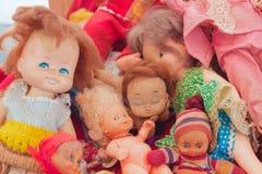 Old dolls stock photos