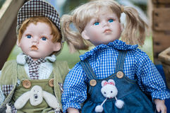 Old dolls Stock Images