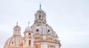 Old dome church. In Rome city, Italy landmark stock photos