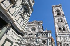 The stunning Duomo in the center of the old town of Florence royalty free stock photo