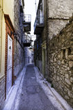 Old domestic houses in the village of Pirgi in Chios Island Royalty Free Stock Photos