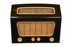 Old domestic wireless radio receiver set stock photos