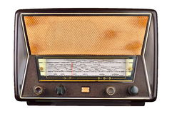 Old domestic wireless radio receiver set Royalty Free Stock Photo
