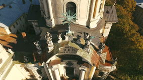 Old Dominican Church City View stock video footage