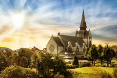 Old Domkirke Royalty Free Stock Photography