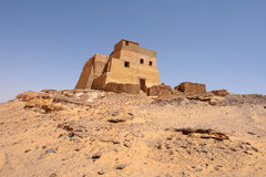 Old Dongola. So called throne Hall in deserted Makuria christian state in old  Sudan Royalty Free Stock Images