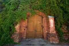 Old door. The door of the old castle stock images