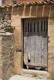 Old door. In partial shade Stock Photos