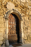 Old door. Ancient door of an old village in France (Provence Stock Images