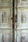 Old door. Old carved manor locked door Royalty Free Stock Photos