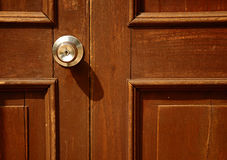 Old Door. Handle, over 100 years old royalty free stock images