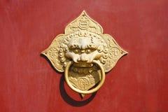 Old door. Grunge ancient red old door Stock Photography