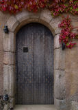 Old door. Old, wooden door to a castle Stock Image