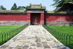 Old door. Traditional old door in beautiful colors,photo taken in Tiantan park in Beijing Stock Photo