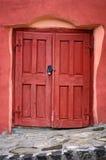 Old door. Red old door with lock royalty free stock image