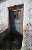 Old Door. In fishing village on Soth African Coastline Royalty Free Stock Images