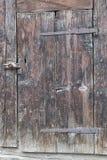 Old Door. An old door with period hinges and lock Stock Photo