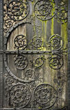 Old door. Old rotten wooden door with moss Royalty Free Stock Photos