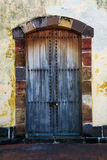 Old Door. This is an old door in paanama with wood Stock Photo