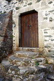 Old door. A photo of old door on Mount Ahtos, Greece royalty free stock images