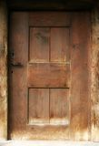 Old door. Made from wood Stock Images