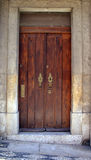 Old door. In Lisbon, portugal Royalty Free Stock Images