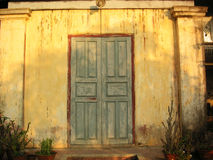 Old door. Old wooden door stock photography