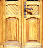 Old door. Age-Old Weathered Wooden Door Royalty Free Stock Images