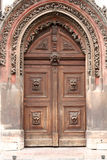 Old door. Beautiful old door in Prague Royalty Free Stock Photography