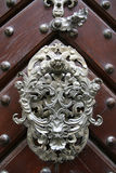 Old door. Beautiful old door in Prague with doorhandle Royalty Free Stock Photography