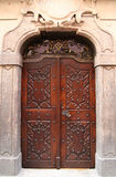 Old door. Beautiful old door in Prague Royalty Free Stock Image