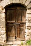 Old door. Old wood portal Stock Image