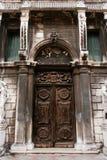 Old door. Old closed door (Venecia, Italy Stock Photos